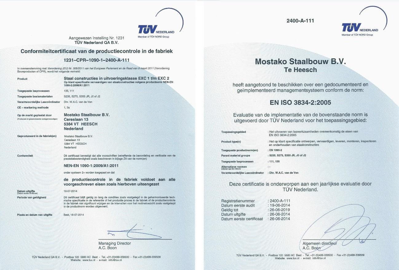 1090+3834 certificaat (B)
